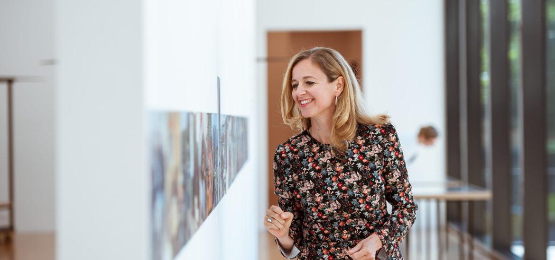 Kerstin Appel im Kunstmuseum Liechtenstein.