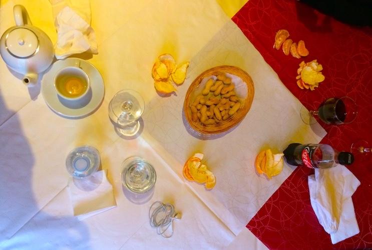 Mandarinen-Tischgeschichte in Zürich