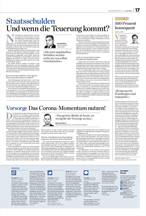 Bild von Seite 17, Handelszeitung vom 2. Juli 2020
