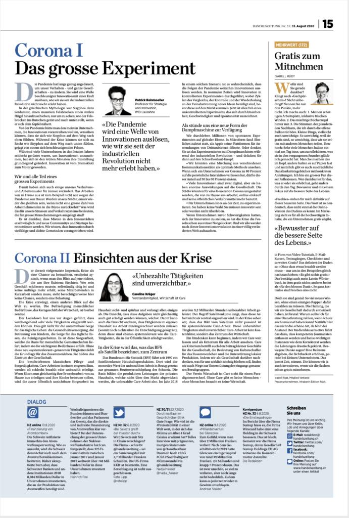 Bild von Seite 15, Handelszeitung vom 13. August 2020
